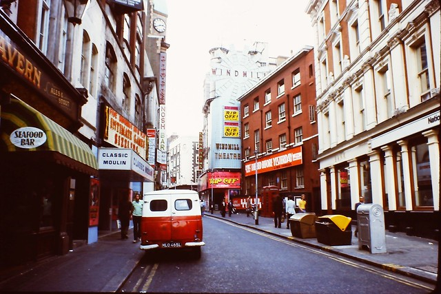 1976 - London - Soho - Great Windmill Street