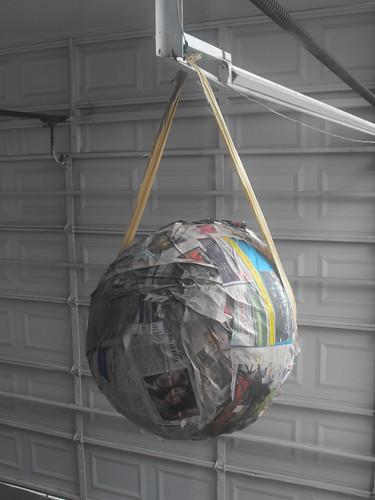 Piñata en proceso