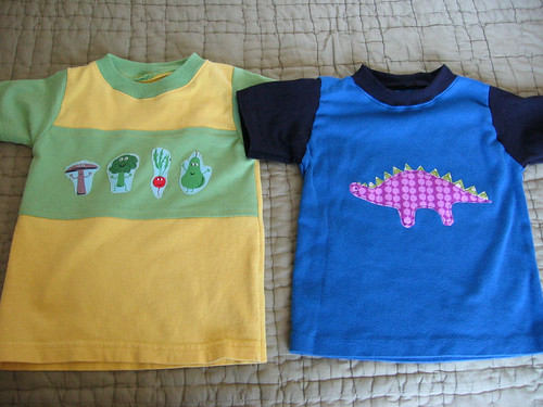 veggie and dino t-shirts