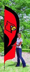 Louisville Cardinals Tall Feather Flag