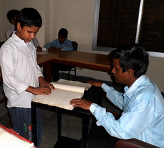 A Braille Lesson at BERDO's Dhaka Center