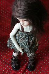 Commission makeup pour Danielle (heliantas) Tags: doll handmade wig bjd faceup dollstown seola