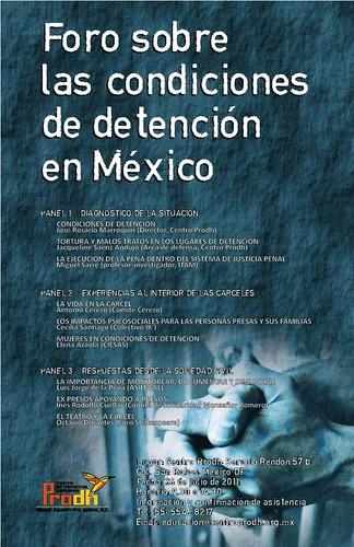 Foro sobre las Condiciones de Detención en México