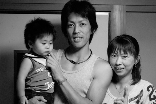cousin Kiyoteru and family