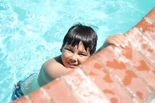 Tyler: poolside