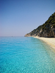 Shame on Blue (duboramic) Tags: blue sea beach azul island greek mar marine crystal playa greece transparent thalassa lefkas paralia galazio leykada