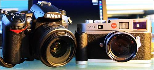 Nikon D7000 35mm f/1.8 DX lens Leica M9 Zeiss 50mm f/2 T* Planar