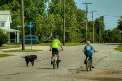 The Dog Days Of Summer (Majtek862) Tags: street summer dog bike kids rural sunny kansas