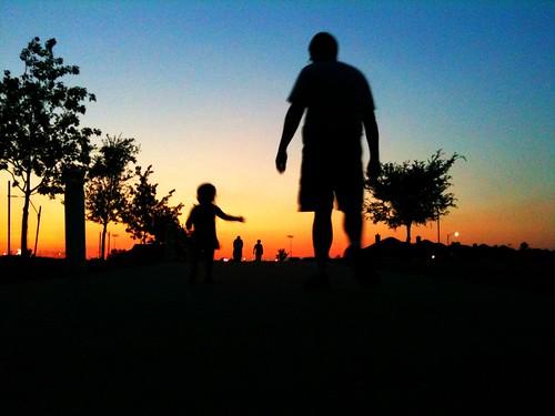 Susnet Walk with Daddy
