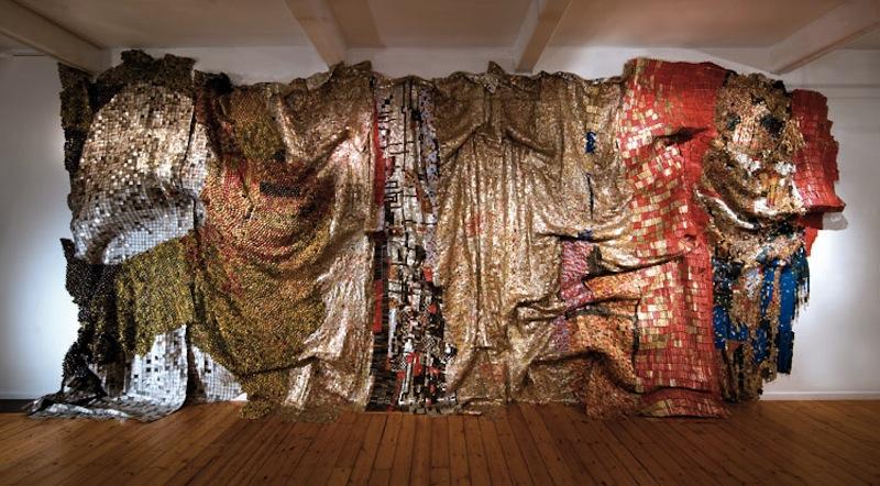 El Anatsui recycled wall art 7