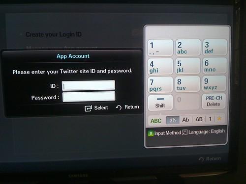 Twitter on Samsung TV – socialtvx