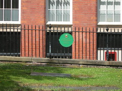 Photo of George Africanus green plaque