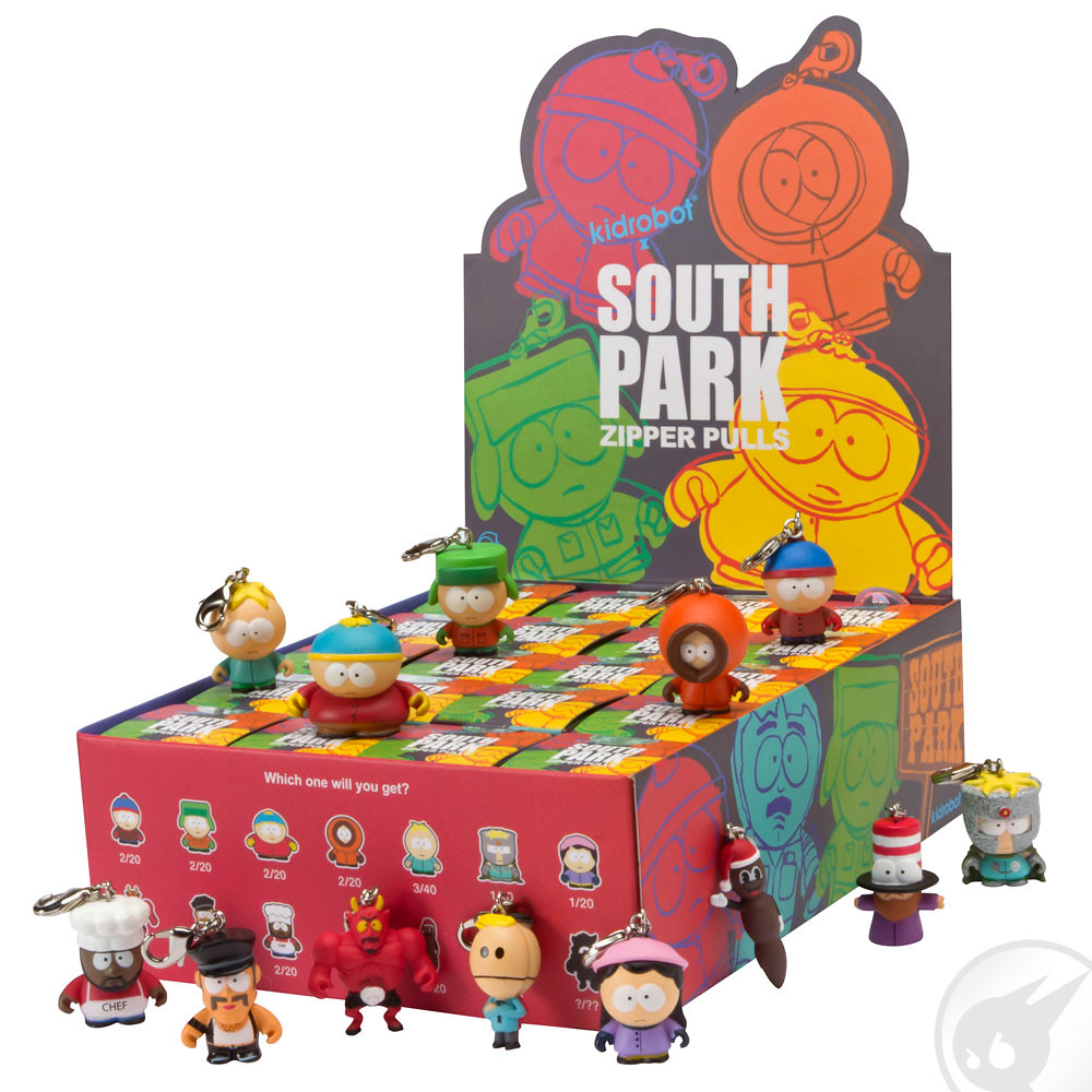 Kidrobot South Park Series 1 Zipper Pulls Terrence /& Phillip AND Prof Chaos