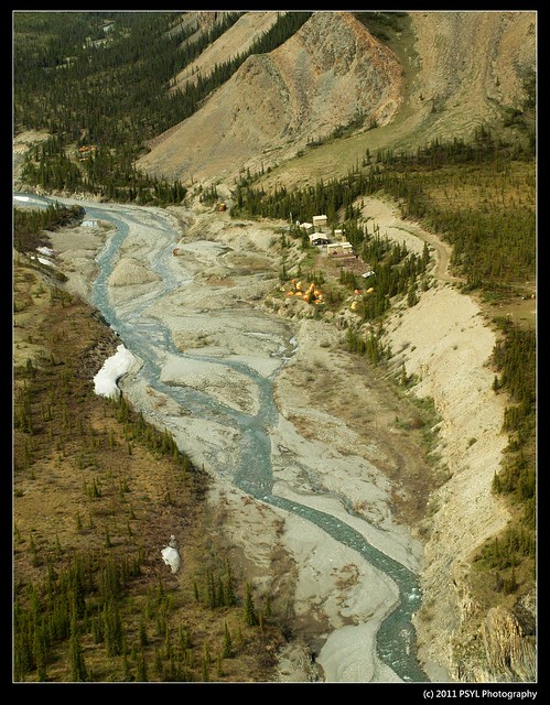 Aerial view of Sheep Creek