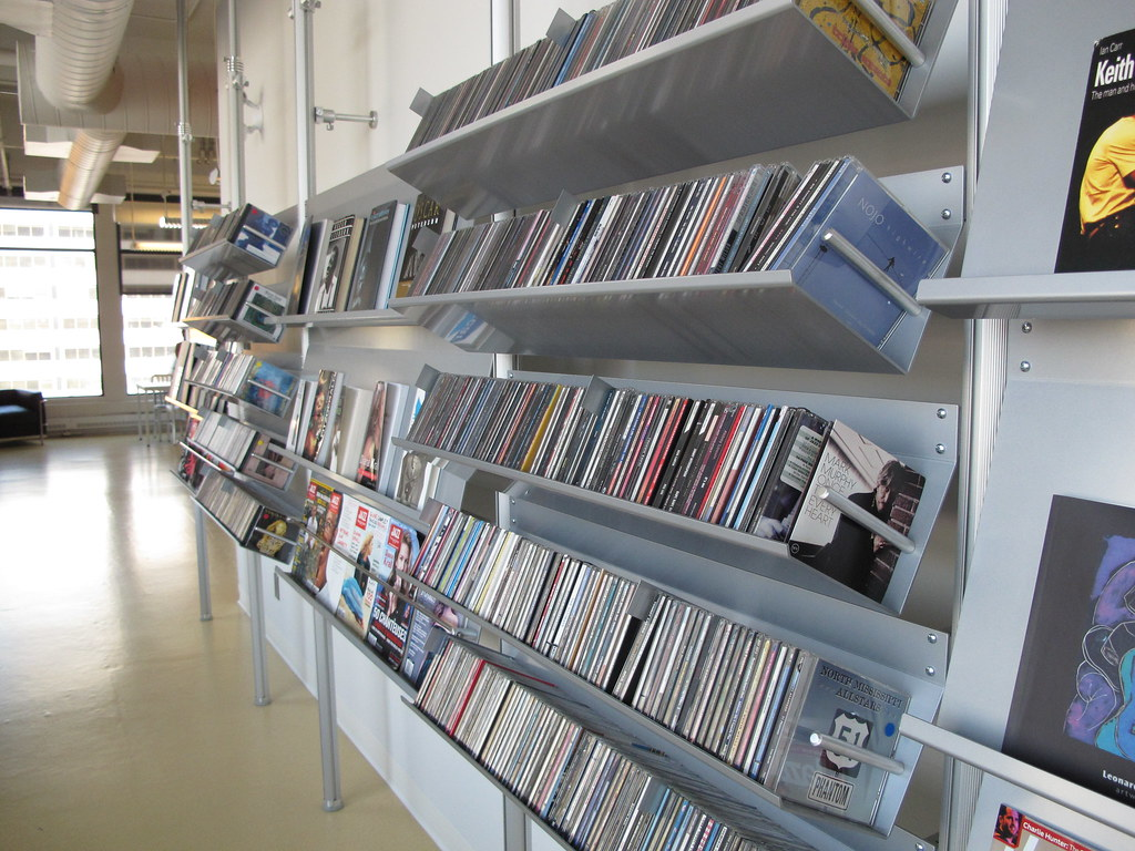 CDs and magazines, natural light