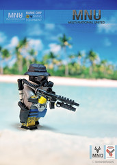 MNU Marine Corp / Diving equipment (Shobrick) Tags: lego district 9 diving suit weapon minifig custom g36