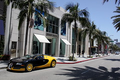 Beverly Hills (Charlie Davis Photography) Tags: california trees red black reflection yellow speed drive los crazy beige flickr glare shadows play angeles designer dr interior 4 fast palm hills explore 164 rodeo hood beverly expensive rims bugatti loud luxury rare exclusive airbrush previously modded veyron vandalized bijan explored l4p