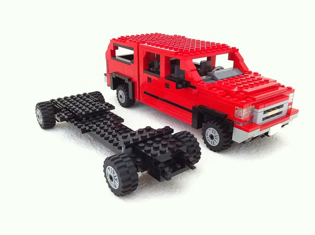 red ford chevrolet car truck gm lego 4x4 top shell pickup f150 2006 chevy chrome frame dodge ram ck silverado camper ralph topper towing updated heavyduty z71 gmt800 savelsberg laddertype