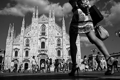 (Donato Buccella / sibemolle) Tags: blackandwhite bw walking shadows legs milano duomo lowangle fromtheground mwpotw img3245 sibemolle