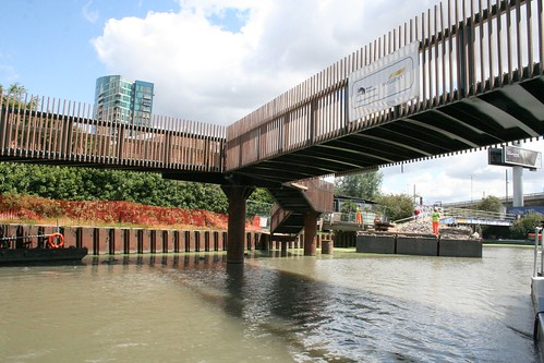 A new pedestrian bridge - rather nice