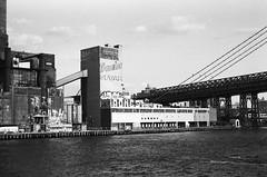 domino. (...it disappears...) Tags: film brooklyn 35mm factory sugar williamsburg domino ilfordhp5400 asahipentaxk1000 eastriverferry