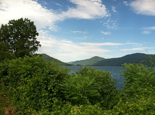 view north on lake george