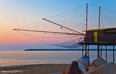 Trabocchi Pescaresi.. (IntoTheWild1979) Tags: travel italy nature canon tramonto mare molo nord abruzzo monti pescara trabocchi