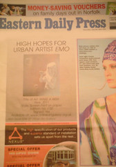 MAKE A WISH - EASTERN DAILY PRESS NEWSPAPER 23rd July 2011 (C) emo urban art (EMO - urban art) Tags: pictures street new york red urban news paris color colour brick guy london art water girl make festival wall modern bronze silver giant paper carpet gold graffiti photo moss stencil war montana faile king artist gallery kate contemporary nick emo royal hilton glastonbury banksy coke visit can daily spray nike diamond un dolce walker hype walls cans wish dust pow press eastern shepard armani signed eminem dolk robbo obe gabanna unsigned youtube hepner 2013 makeawisheasterndailypressnewspaper23rdjuly2011