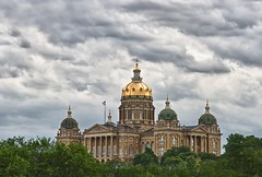 The Iowa State House - Project 50/50 (Week 28) (w4nd3rl0st (InspiredinDesMoines)) Tags: city morning summer urban jason color public weather architecture clouds canon landscape yahoo blog pod day cloudy outdoor protest culture iowa lookingup capitol independent 7d government law nik republican powerful legislature democrat hdr hilltop legal cultural statehouse polkcounty capitalcity countyseat 2011 legislator governorsoffice project365 stategovernment 1585 hdrtutorial placeofpower iowaevents projectweather project5050 mrachina desmoinesisnotboring thingstodoiniowa wwwdesmoinesisnotboringcom