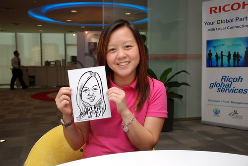 Caricature live sketching for Ricoh Roadshow - 3