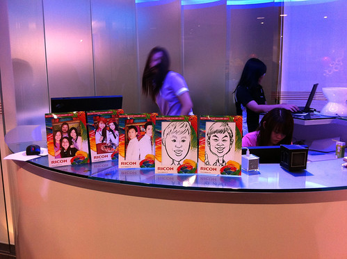 Caricature live sketching for Ricoh Roadshow - g