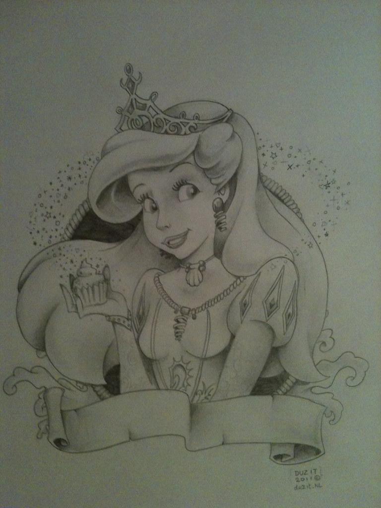 Little mermaid Tattoo design