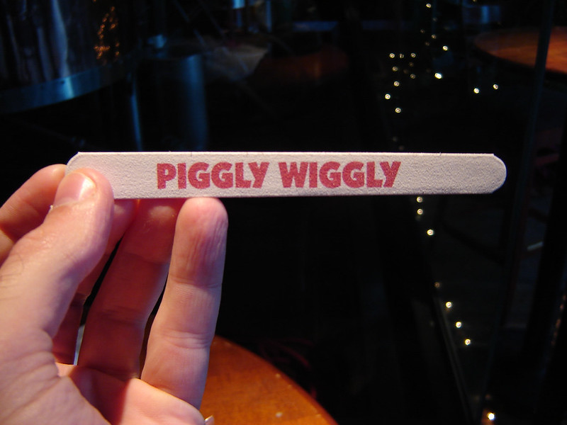 Piggly Wiggly tongue depressor. Go figure.