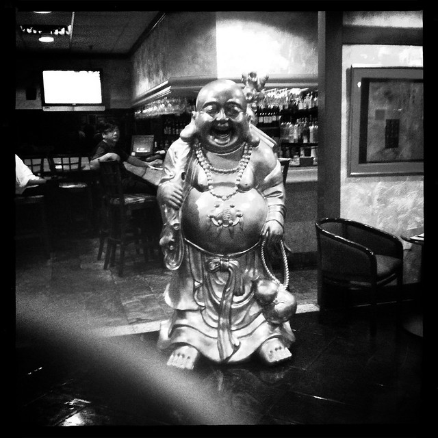 Buddha Outside Japanese Restaurant