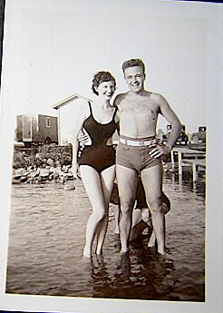 1950s Couple in Water