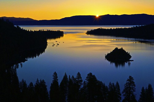 [免费图片] 自然・景观, 湖, 日落, 加拿大, 201107311900
