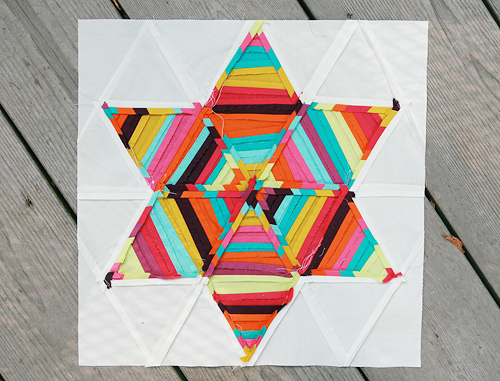 Summer Sampler Series : Six Point String Quilt Block Seams