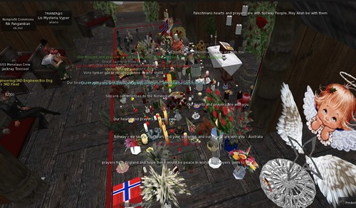Memorial for Norway Terror Attack Victims in Second Life