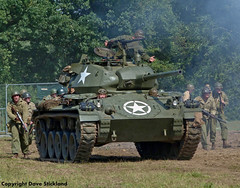 US troops advance (john lilburne) Tags: us tank wwii american ww2 armour reenactors chaffee warandpeaceshow2011