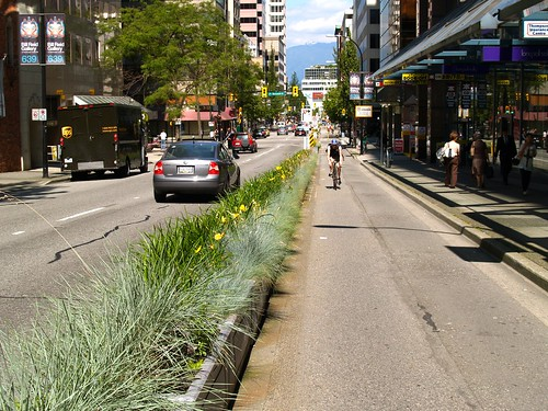 Downtown Vancouver Bike Lanes