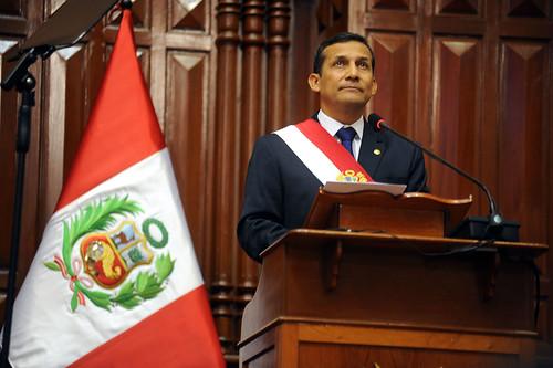 Humala dirige su primer mensaje al País