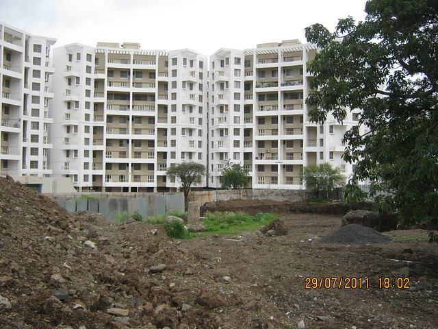 Site of E Wing of Paranjape Schemes' Gloria Grace, 2 BHK & 3 BHK Flats, at Bavdhan, on Paud Road, Kothrud Annexe, Pune