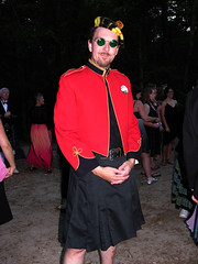 Finery for the Ball (jere7my) Tags: camp vintage ball utilikilt kilt formal plymouth folkdance pinewoods dancecamp formalball scottishdancing grannyglasses militaryjacket rscds britishmilitary pinewoodscamp greensunglasses jere7my fridaynightball liqueurparty