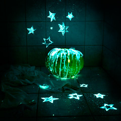 Time's Up! (Polen Erciyas) Tags: fairytale stars pumpkin magic spell badge fade cinderella glowsticks fadeaway polishyourdreams