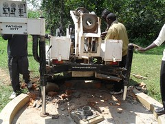 drilling rig on the shamakhubu well