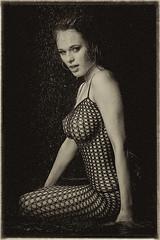 Drops ([]NEEL[]) Tags: portrait sexy wet water girl studio shower model aqua smoke fishnet ukraine steam ukrainian  kharkiv   bodystockings