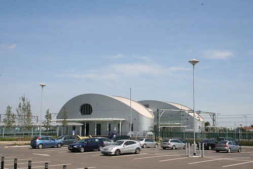 Southend Airport station from afar