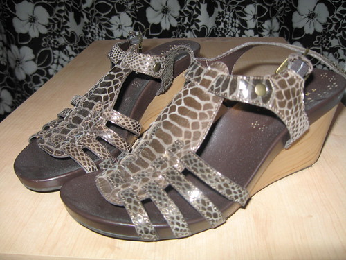 Truflex brown leather gladiator wedges, sz. 6.5