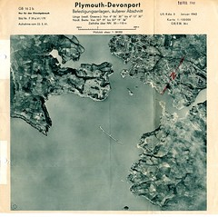 Plymouth Sound : Jan 1942 (Plymouth History) Tags: cornwall map aircraft nazi plymouth aerial devon photograph german target bomb blitz bombing reich devonport secondworldwar stonehouse luftwaffe plymstock saltash torpoint