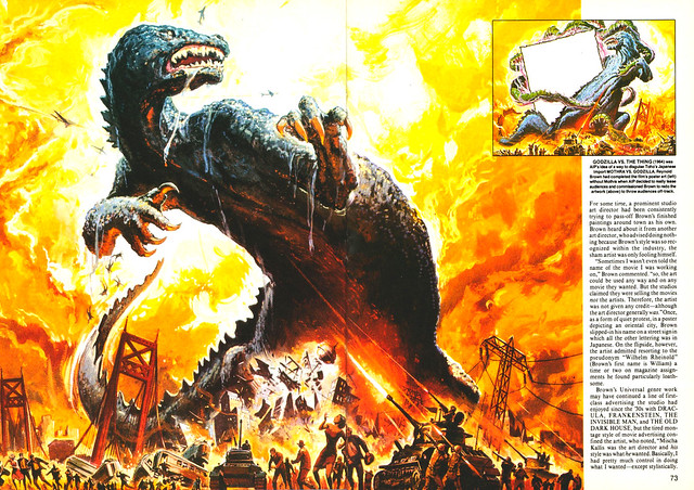 Reynold Brown - Godzilla Vs Thing, Poster Art, 1964